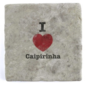 I Love Caipirinha - Marble Tile Drink Coaster