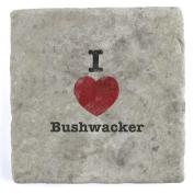 I Love Bushwacker - Marble Tile Drink Coaster