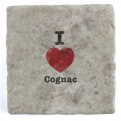 I Love Cognac - Marble Tile Drink Coaster