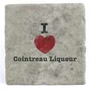 I Love Cointreau Liqueur - Marble Tile Drink Coaster
