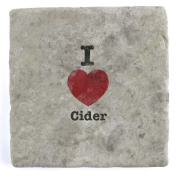 I Love Cider - Marble Tile Drink Coaster