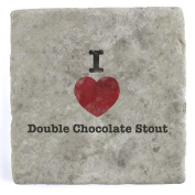 I Love Double Chocolate Stout - Marble Tile Drink Coaster