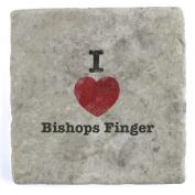 I Love Bishops Finger - Marble Tile Drink Coaster