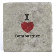 I Love Bombardier - Marble Tile Drink Coaster