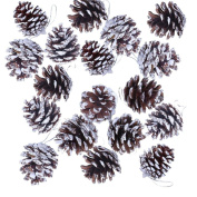 18 Pcs Christmas Pine Cones Baubles X-mas Tree Party Hanging Decorations Ornament Home Decor by Wetrys