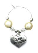 Great Grandma Wine Glass Charm with Gift Card Handmade by Libby's Market Place - From UK Seller
