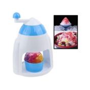 Mini Manual Ice Crusher Manual Ice Cream Maker Machine White Blue