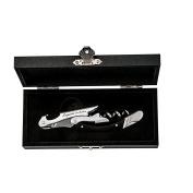 "LAGUIOLE CORKSCREW ""OMBRÉE"" | black/silver-coloured, stainless steel/olive wood | bottle opener"