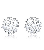 Celebrity Jewellery S925 Sterling Silver Snowflake Frozen Edelweiss Stud Earrings for Women Gift