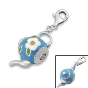 So Chic Jewels - 925 Sterling Silver Tea Pot Charm with Lobster