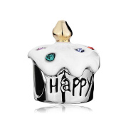 Sug Jasmin Happy Birthday Cake Charm For Bracelets