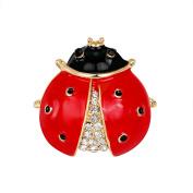 Lovely Little Ladybird Ladybug Enamel Brooch Womens Xmas Jewellery Gift