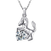 Gold/Silver Horse Jewellery Crystal Pendant Pony/Horse Necklace for Women and Girls Gifts
