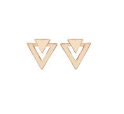 Fashion Gold Alloy Simple Geometric Triangle Stud Earrings For Women Jewellery