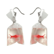 Bluelans Funny Goldfish Water Bag Shape Dangle Hook Earrings Charm Women Jewellery Gift