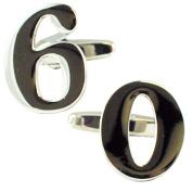 Number 60, 60th Birthday Gift Cufflinks