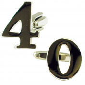 Number 40, 40th Birthday Gift Cufflinks