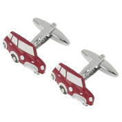 CUFF IT Newstyle Mini Red Car Cufflinks Novelty Shirt Accessories with Gift Box
