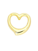 MyGold Heart Pendant (without chain) Yellow Gold 14 carat 585 Gold 13 mm x 12 mm Gloss Gold Swing Heart Necklace Necklace Heart Pendant Necklace Gift For Women Christmas Gift Verity A 03921 G401