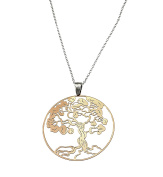 Necklace with Pendant Tree of Life 925 Sterling Silver Rose Gold Plated