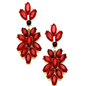 Ant Hony Designer Glamour Long Earrings Crystal Wedding Decorations Red 5.2 cm lang