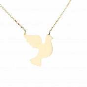 Pendant with Necklace – Anchor Chain 45 cm 585 Gold Set Yellow Gold Dove with 2004