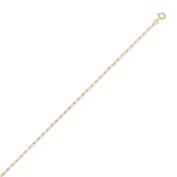 diamantly Diamond Alternate 1.5 mm Curb Chain Necklace Gold 750 – 40 cm