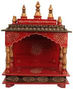 Mereappne Diwali Special Pooja Mandir For Home Rajasthani Vintage Wooden Temple Chowki Indian Ethnic Style Maandir