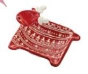 Small Reindeer Bowl 18 x 15 cm
