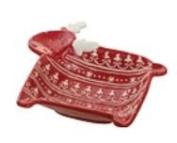 Bowl Reindeer Red Large