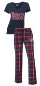 "Houston Texans NFL ""Game Day"" Women's T-shirt & Flannel Pyjama Sleep Set"