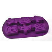 outflower 6 Even Grid Style Jelly Ice Cake Chocolate Silicone Moulds Soap DIY Mould Halloween Ghost Halloween