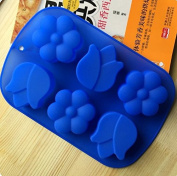 outflower 6 Plum Blossom Soap DIY Mould Jelly Ice Cake Chocolate Silicone Moulds