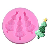 outflower 1 Pcs Fashion Christmas Tree Cake Mould DIY Candy Chocolate Cake Mould Mould Cake Decorating Baking Tool Silicone Mould Liquid