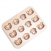 CAN_Deal 12 Cavity Cartoon Muffin Baking Pan, Pig, Monky, Bear, Dog Claw