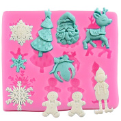 Cdet 1X Cake Mould Christmas 3D Muffin Cups Soap Moulds Biscuit Chocolate Ice Cake Baking Fondant Mould Cake Pan