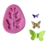 Cdet 2pcs Cake Mould Pink Butterfly Muffin Cups Soap Moulds Biscuit Chocolate Ice Cake Baking Mould Cake Pan