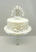 CAKE DECORATION DIAMOND 18th BIRTHDAY DIAMANTE CAKE TOPPER WITH MATCHING RIBBON