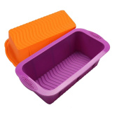 Espeedy Rectangle Toast Bread Mould Silicone Jelly Ice Baking Mould Cake Loaf Pan Bakeware DIY Tool
