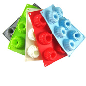 Espeedy 6 Cavity Spiral Silicone Tray Mould Chocolate Candy Ice Jelly Mould DIY Cake Baking Tools
