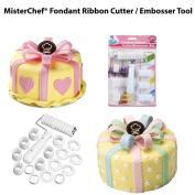 MisterChef® Fondant Ribbon Cutter Roller Embossing Cake Decorating Tool Set