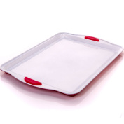 33cm Large Baking Tray - Non-Stick Cookie/Biscuit Tin With Silicone Grip Handles