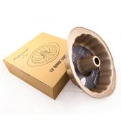 CAN_Deal 25cm Carbon Steel Bundt Cake Pan, Nonstick Bundt Pan with Handles