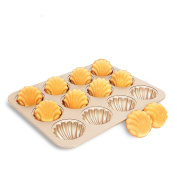 CAN_Deal Non Stick Japanese Style 12 Cavity Madeleine Baking Mould