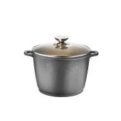 Berndes 031585 Vegetable Pot with Glass Lid (Cast Aluminium Black 32.0 x 27.0 x 17.5 cm