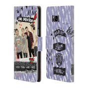 Official One Direction Thunder Design Midnight Memories Shots Group Leather Book Wallet Case Cover For Samsung Galaxy S8+ / S8 Plus