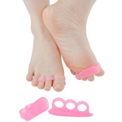 Sumifun Hammer Toe Toe Separators,Toe Spacers,Toe Stretcher for Dancers,Yogis & Athletes,Treatment for Hammer Toe, Bunion Relief, Foot Pain Relief, Plantar Fasciitis, Hallux Valgus