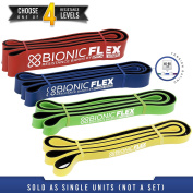 Bionic Flex Resistance Band – Ultra Durable Resistance Bands for Pull Ups, Strength Training Exercise, Physical Therapy, Powerlifting, Stretching by Epitomie Fitness