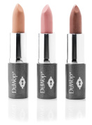 "DuWop new 2017 - ""the nudes"" Mini Private Lipstick Trio private petal, private blonde, private nude"
