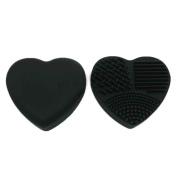1pc Heart Brush Egg Cleaning Washing Make up Brush Silicone Brushegg Cosmetic Powder Clean Tools Xuanhemen